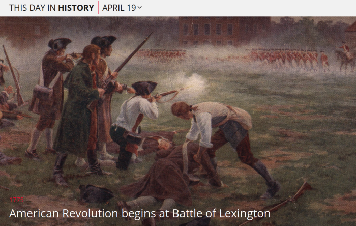 April 19 - This Day in History - The Battle of Lexington