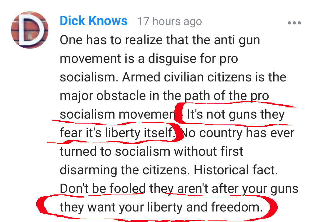its not guns they fear its liberty itself