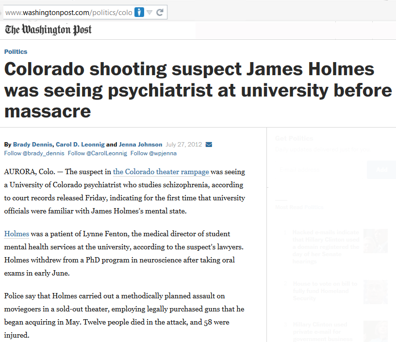 james holmes colorado shooter