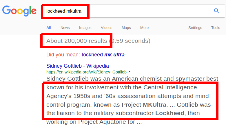 Lockheed Martin connected to MKULTRA